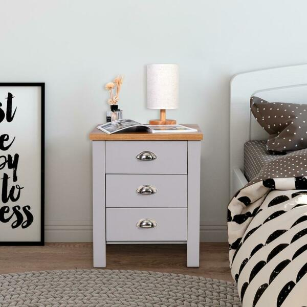 New Modern Set of 2 PCS Night Stand End Side Bedside Table Organizer Wood White