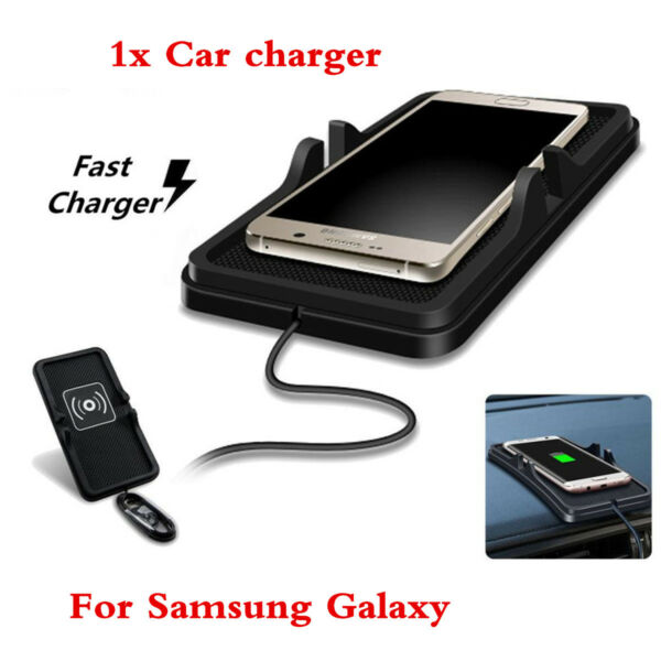 Car Wireless QI Charger Dock Holder Mount Charging Pad For Samsung S8/S7/S7 Edge