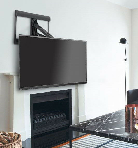 Above Fireplace Over Mantel Pull-Down Full-Motion TV Wall Mount for 42