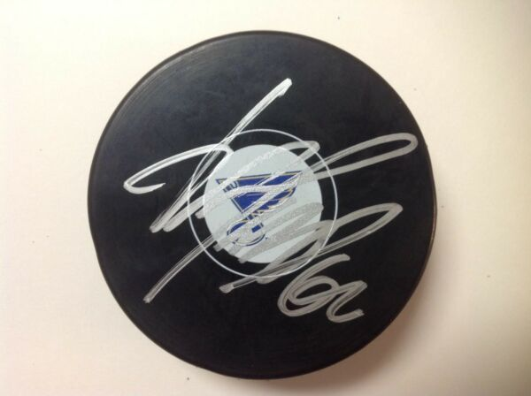 Nail Yakupov Signed Autographed St. Louis Blues Hockey Puck a