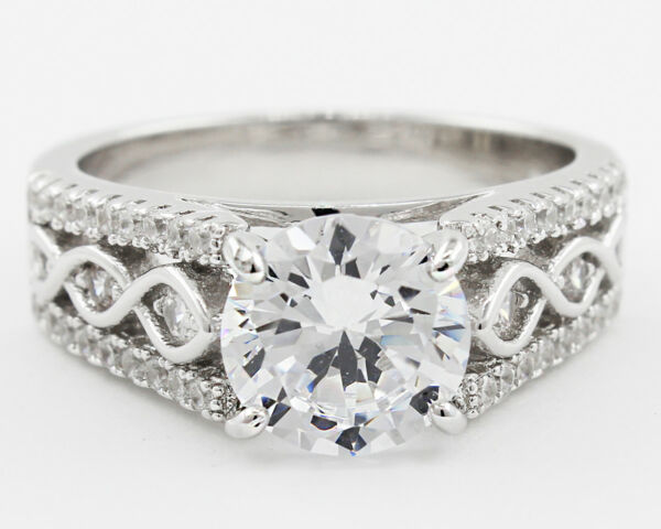 GIA Certified Platinum Diamond Engagement Vintage Style Ring 5.25 ct Round Br...