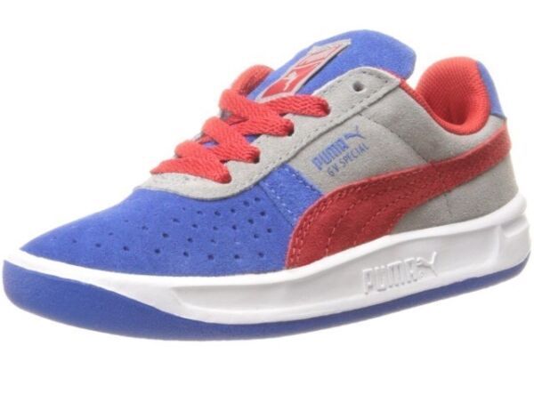 NEW Puma GV Special NM Jr Blue Red Limestone Gray Sneakers Boys Youth Sizes