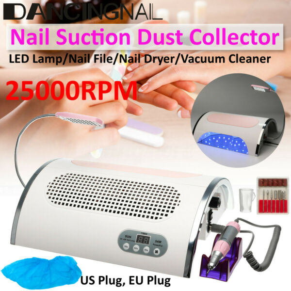 4in1 Electric Nail Drill Machine & Dust Suction Collector& LED UV Lamp & Light