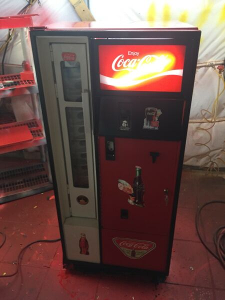 Restored. Vintage Vending Machine Coke Soda Bottle