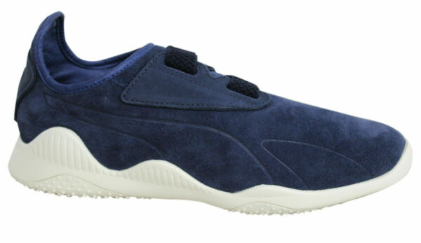 Puma Mostro Navy Strap Up Leather Suede Mens Trainers 363450 01 B13B