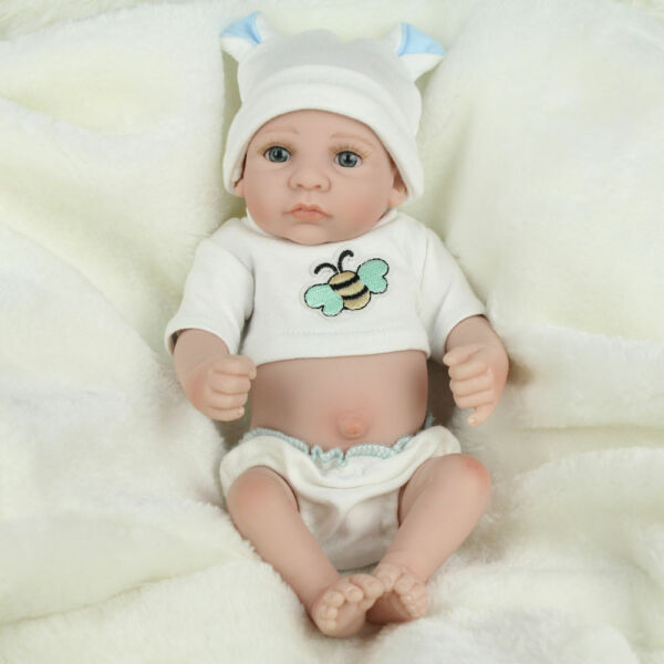 Newborn 10'' Lifelike Handmade Reborn Baby Dolls Full Body Silicone Boy Doll