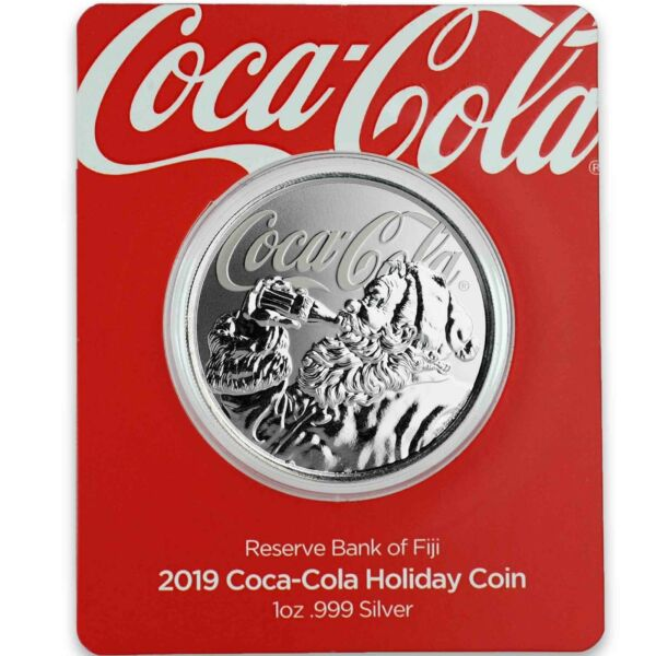 2019 1oz .999 Silver Coca Cola® Holiday Coin Limited Mintage Collectible #A465