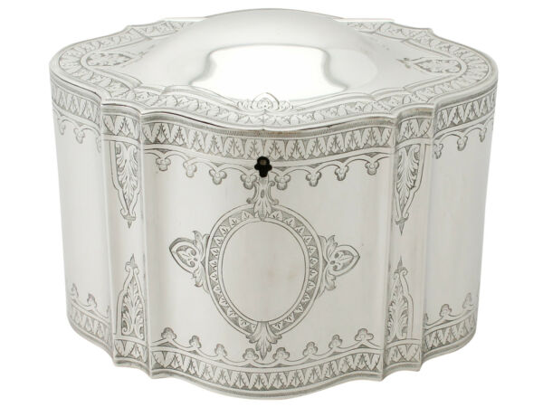Antique Victorian Sterling Silver Locking Tea Caddy