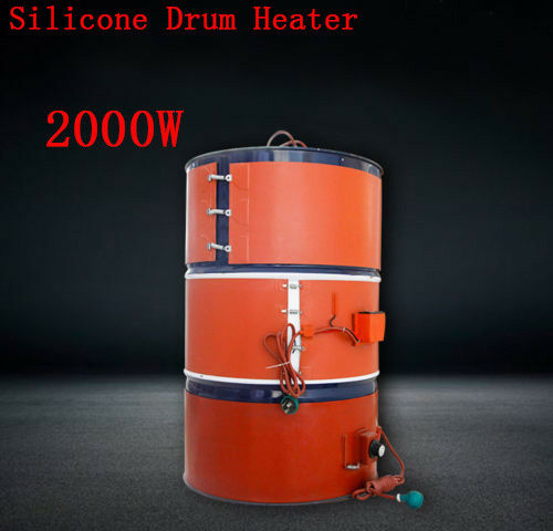 2000W Silicon Band Drum Heater Oil Biodiesel Plastic Metal Barrel Fast heating