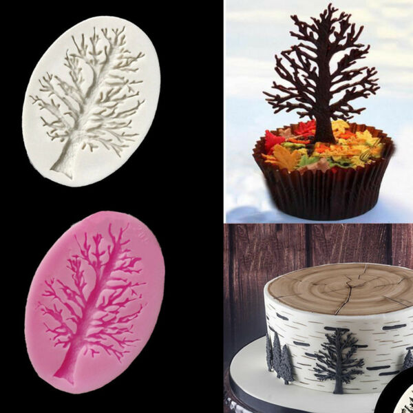 3D Tree Branch Silicone Mold Fondant Cake Chocolate Mold DIY Baking Tool Decor