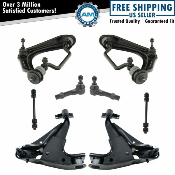 Front Steering & Suspension Kit Control Arms Ball Joints Tie Rods Sway Links 8pc