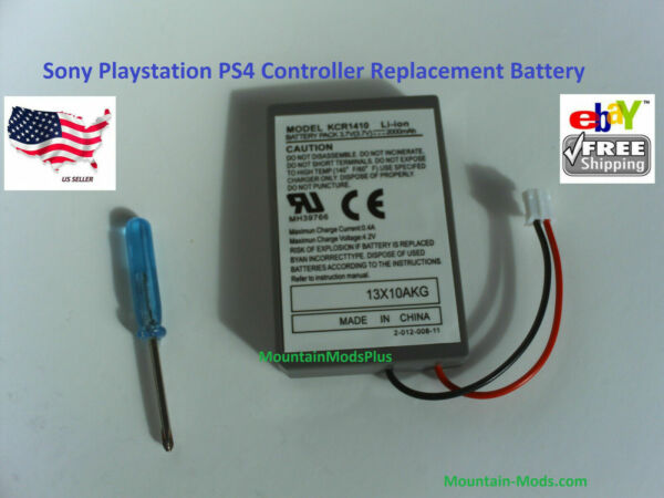 2x Sony Playstation PS4 Controller 2000mAh Replacement Rechargeable Battery Tool $11.99