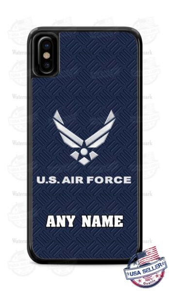 US AIR FORCE CUSTOMIZE WITH NAME TEXT PHONE CASE COVER FITS iPHONE SAMSUNG etc
