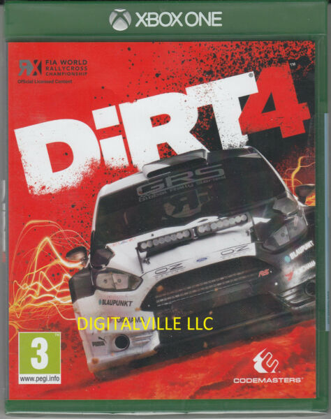 Dirt 4 Xbox One Brand New Factory Sealed Racing Game $26.99