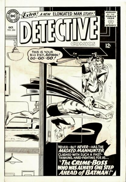 INFANTINO CARMINE  GIELLA JOE - DETECTIVE COMICS #344 COVER (LARGE ART) 1965
