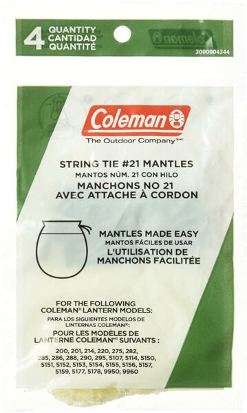 Coleman Tie Style Mantle 4 Pack $5.95