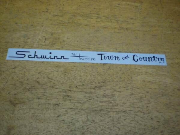 Schwinn Approved Town And Country Tri Wheeler Black Bicycle Chainguard Decal $15.00