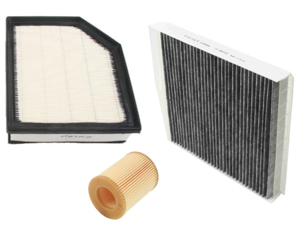Air Filter Oil Filter AC Cabin Filter 39mm Carbon Volvo XC90 2007 2014 $39.84
