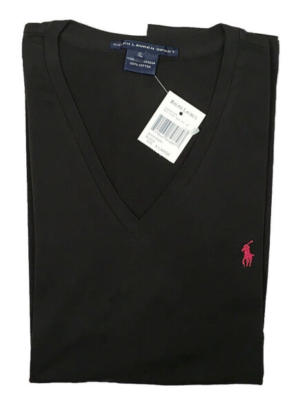 NEW Polo Ralph Lauren Polo Player T Shirt!  Womens  V Neck  Navy Black  7 Colors