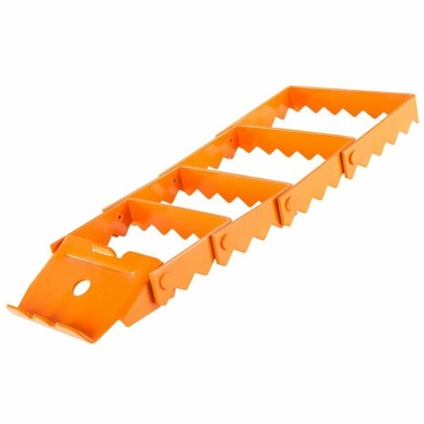 Apex TP-7417 Heavy Duty Vehicle Recovery Traction Grip Track (Orange, Single)