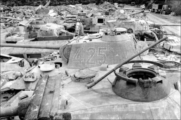 Poster Many Sizes; Panther Tanks Among German Tanks Captured By The Allies Nor