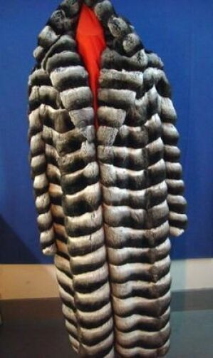 BRAND NEW RANCHED CHINCHILLA W HOOD FUR COAT JACKET MEN MAN SIZE ALL