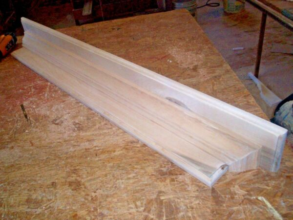 SOLID HARD MAPLE 48 INCH HAND BUILT WALL SHELF MANTEL STAIN GRADE WOOD