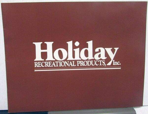1970s Holiday Recreational Products Sales Brochure Custom RV Vans Dodge Ford GM