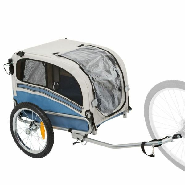 Bicycle Pull-Behind 2-in-1 Pet Trailer and Carrier Stroller
