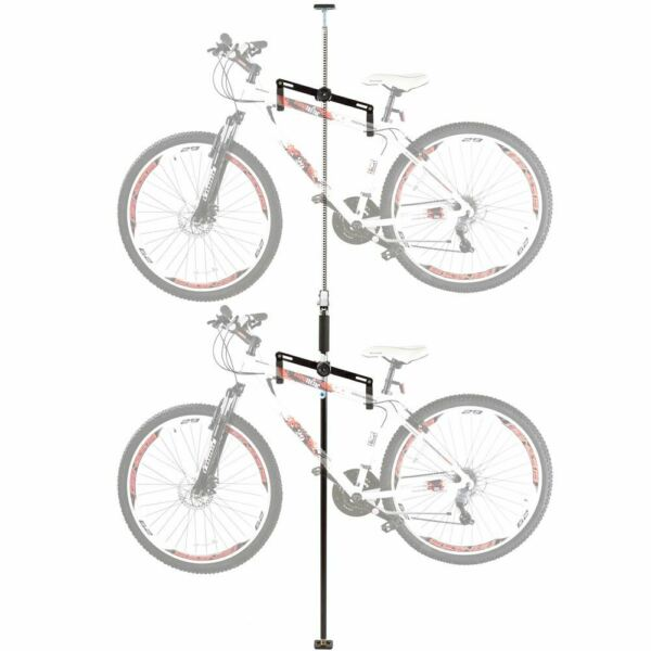 Apex Bike Stand 5 Double Vertical Bicycle Storage Hanger Rack Fits 2 Bikes $65.99