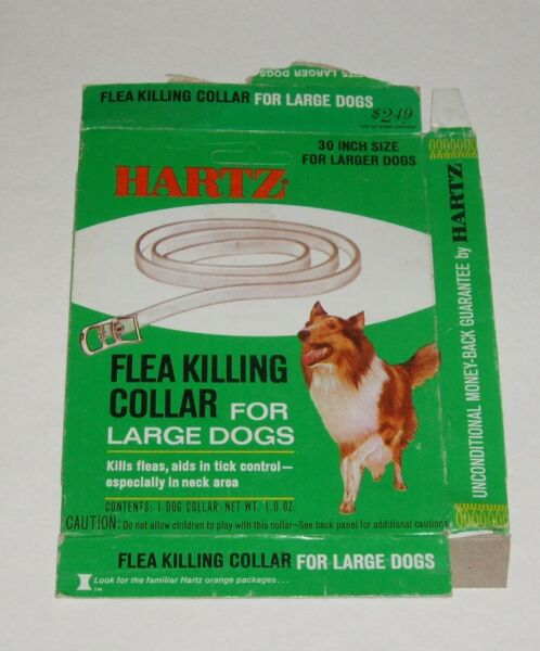 1970#x27;s Hartz Dog Flea Collar Box w Collie on front $20.00