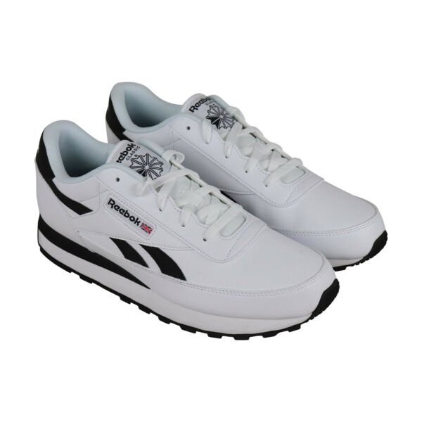 Reebok Classic Renaissance Mens White Leather Low Top Sneakers Shoes 10