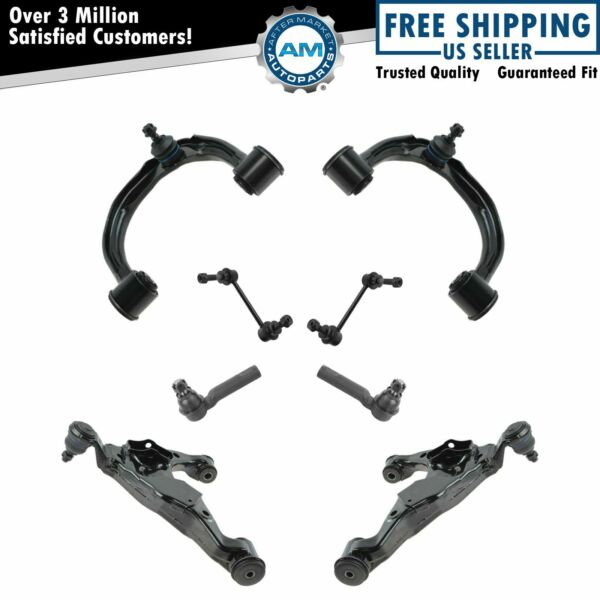Front Control Arm Ball Joint Sway Link Tie Rod Steering Suspension Kit Set 8pc