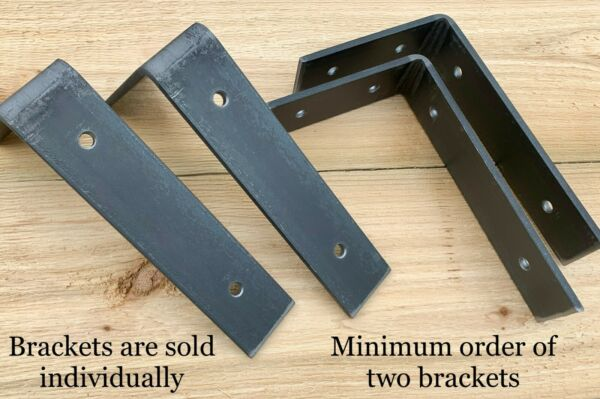 Heavy Duty Metal Shelf Brackets - L Shaped