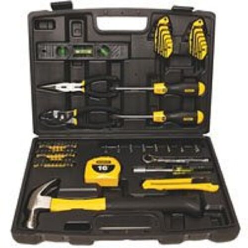 NEW STANLEY 94-248 65 PIECE HOME OWNERS DELUZE MULTI HAND TOOL SET KIT WITH CASE