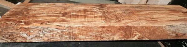 Ambrosia Spalted Curly Maple Wood #9719 Artist Grade 5A Lumber 46.5 x 14 x 3.625