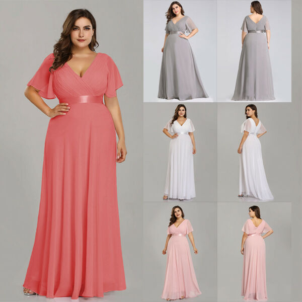 US Ever-Pretty Plus Size Cocktail Dresses Long Formal Evening Prom Dress 09890