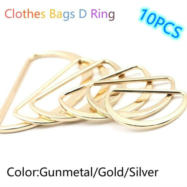50Pcs Garment Accessories Metal D Ring Zinc Alloy Bags D Ring S1