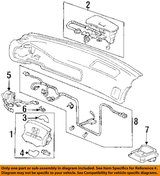 HONDA OEM Accord Supplemental Restraint System-Diagnostic Module 06772SV5A30