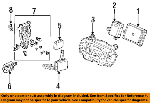 HONDA OEM 1996 Accord-Auto Transmission Control 28100P0HA04