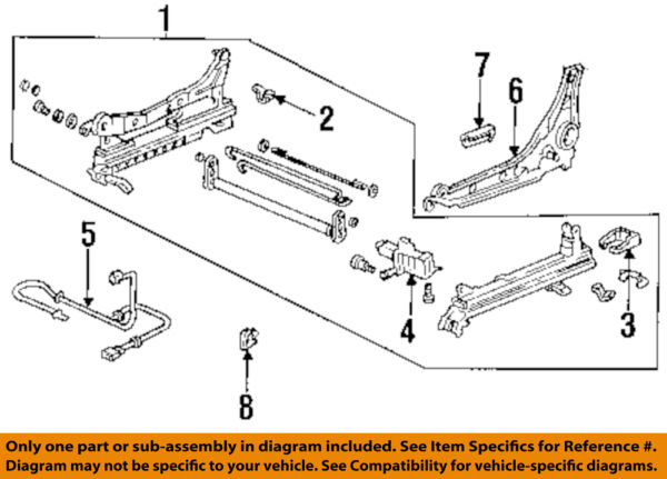 HONDA OEM 94-97 Accord Power Seat-Track Assembly 81514SV4A12
