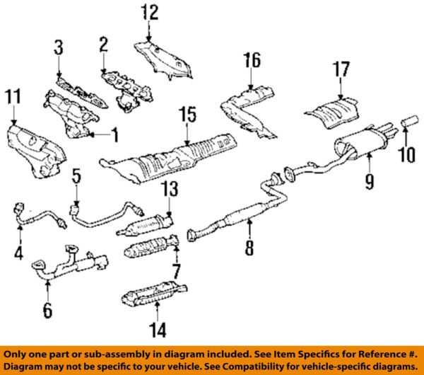 HONDA OEM 95-97 Accord 2.7L-V6-Catalytic Converter 18160P0GA00