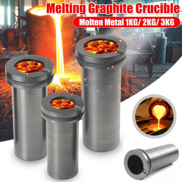 99.9% High Purity Graphite Furnace Casting Foundry Crucible Melting Tool 123KG