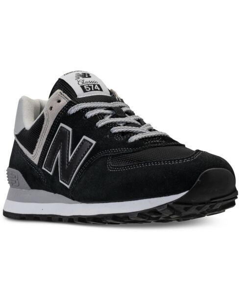 NEW MEN'S NEW BALANCE 574 SUEDE CASUAL SNEAKER SHOES!!! IN BLACK GRAY WHITE!!!