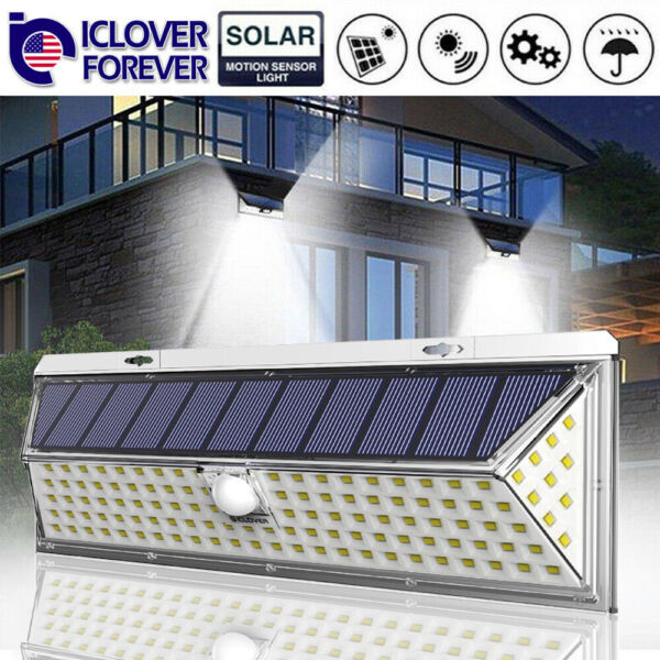118 LED Solar Lamp Outdoor Garden Yard Waterproof PIR Motion Sensor Wall Light $19.97