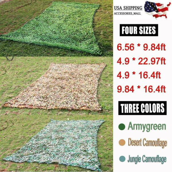 Woodland Camouflage Camo Military Net Hide Netting Cover Camping Hunting Shelter