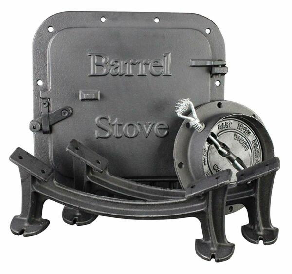 New US Stove Barrel Stove Kit Heavy Duty Cast Iron Fireplace Accessories Parts