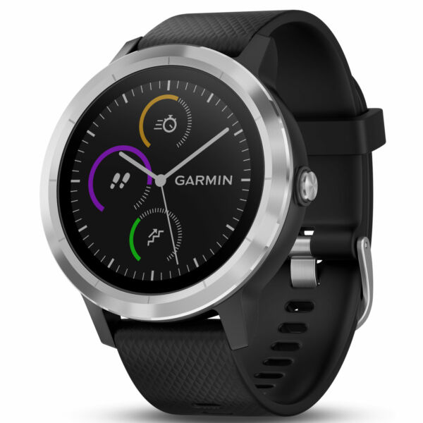 Garmin Vivoactive 3 GPS Fitness Smartwatch Tracker Black Stainless 010 01769 01