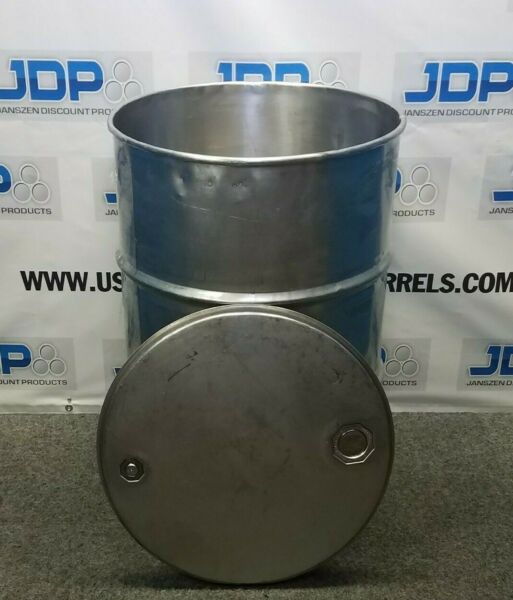 55 gal 304 USED stainless Open Head Barrel thickness may vary $295.00