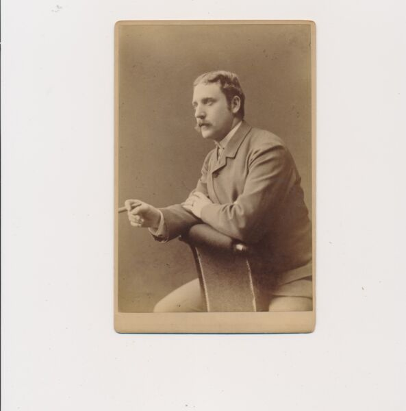 1880 Cabinet Card Thomas Annan Self Portrait or Close Casual Friend?